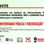 Movimentos sociais discutem universidade pública e terceirização