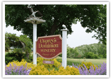 Osprey's Dominion sign