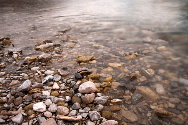 River over stones