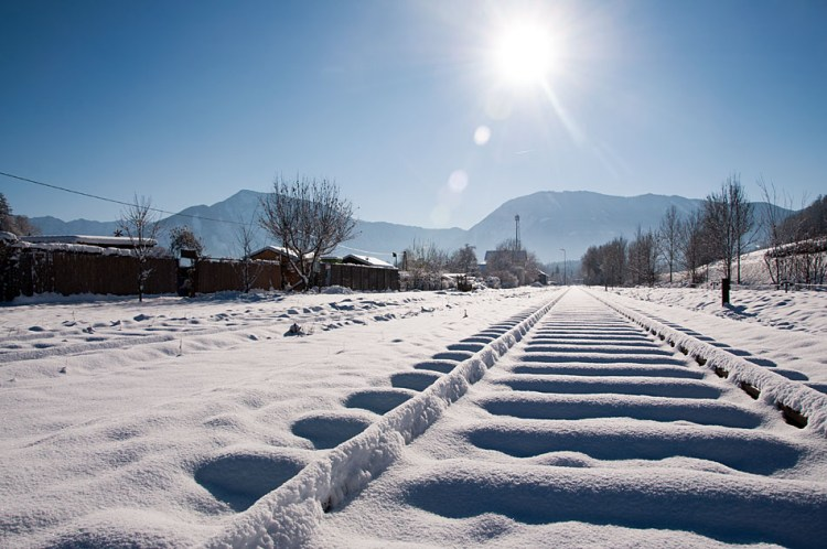 Track with snow