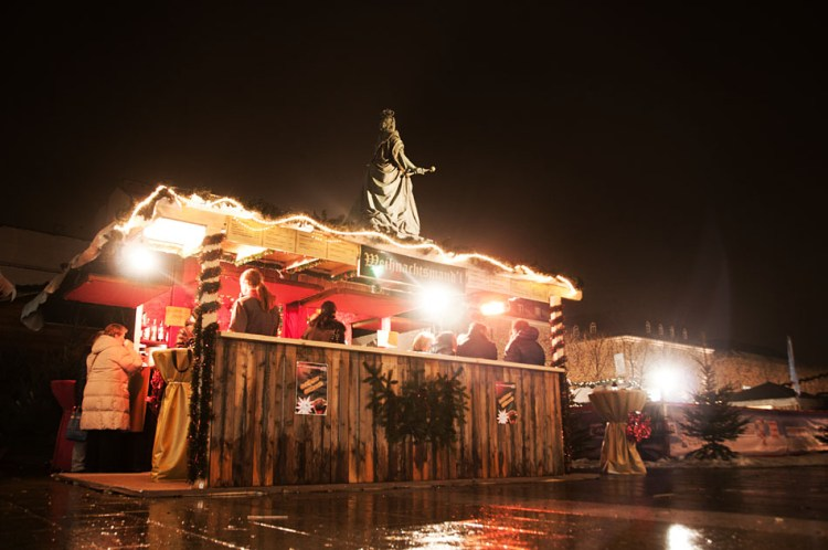 Christmas Market hot wine stand