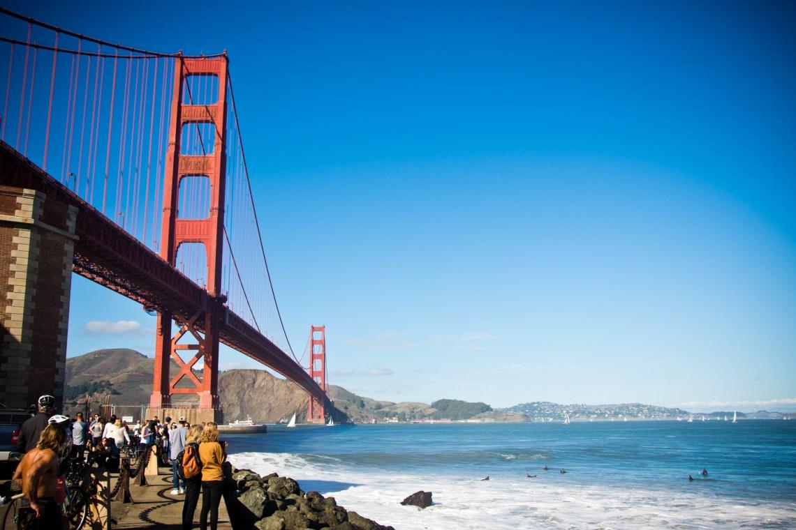 Golden Gate Bridge from under
