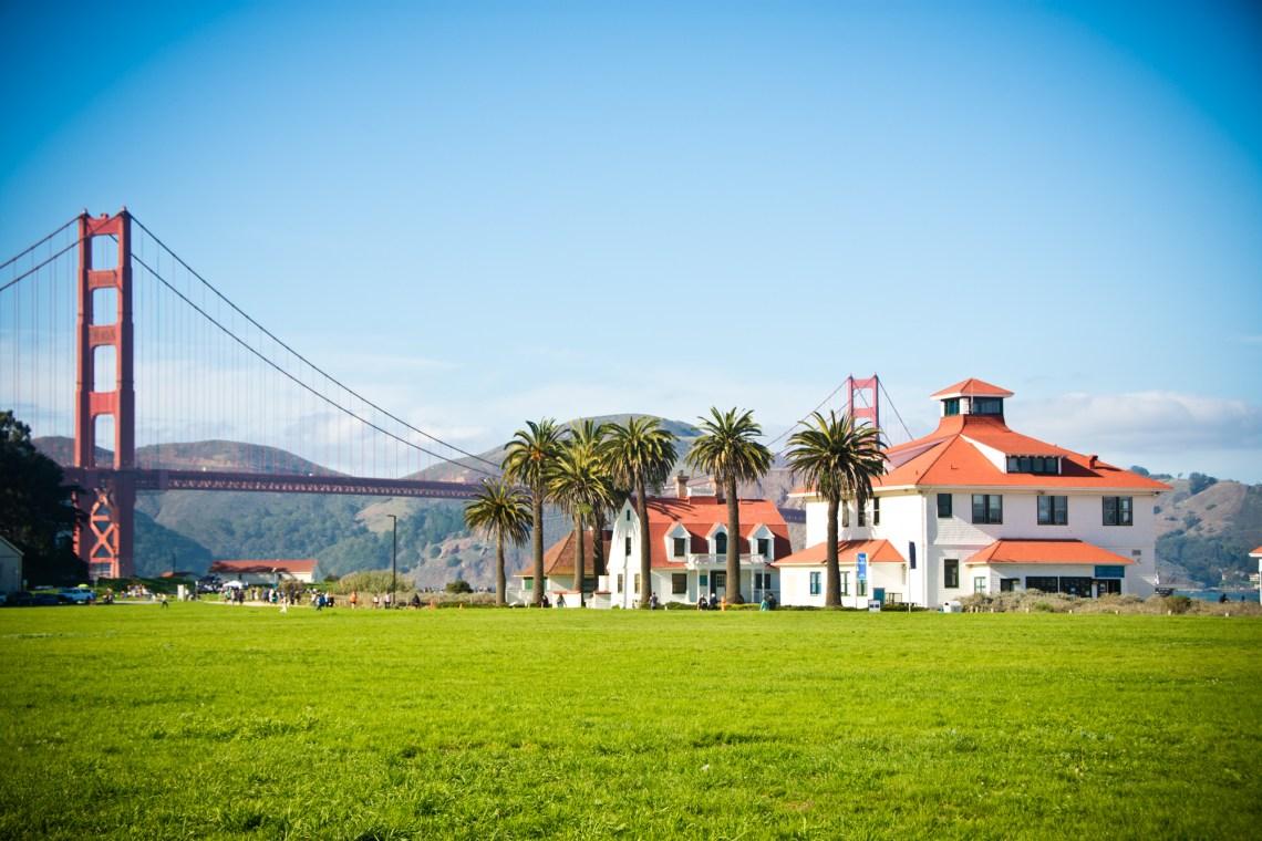 Golden Gate Bridge park view