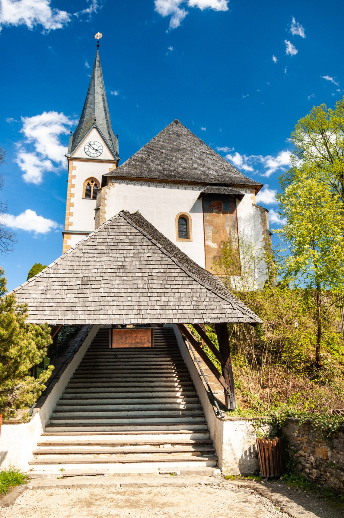 Entrance view of the Church in Maria Woerth, Austria