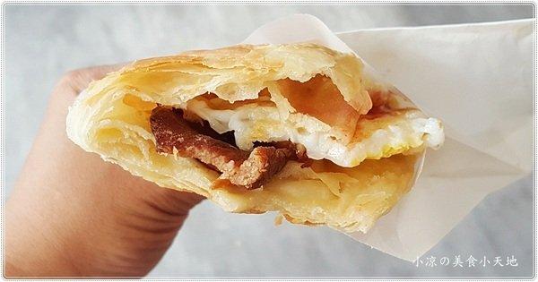 老陳燒餅║傳統中式早餐、手工燒餅、蛋餅、醃肉排蛋燒餅必點! Nini and Blue 玩樂食記