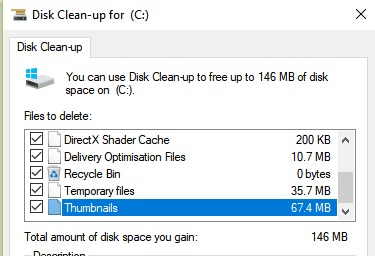 Disk Clean-up