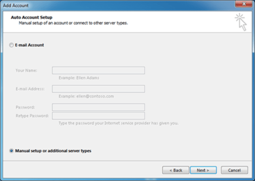 Add Account in Outlook