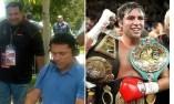 De la Hoya, medalla de Oro Olímpica en Barcelona y campeón mundial en diversas categorías de Boxeo.