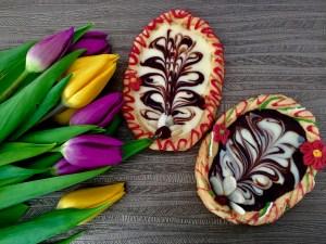 Mazurki w polewie czekoladowej