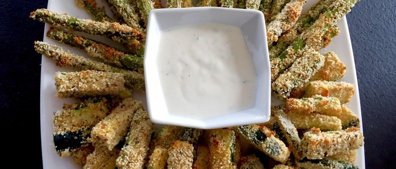 Paluszki z cukini i szparagów w panierce