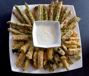 Szparagi i cukinie pieczone w piekarniku