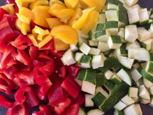 Warzywa do lecza z cukinią