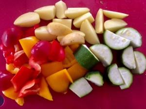 Warzywa do pieczonych skrzydełek