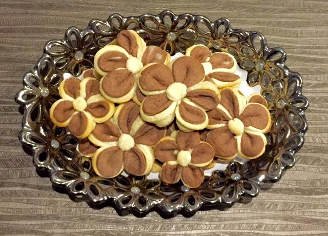 Maślane ciasteczka - kwiatki