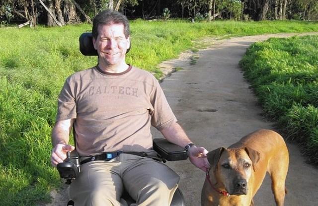Hal Finney wiht his dog