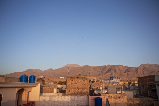 Our only view of the outside world - from the rooftop of our hotel in Quetta