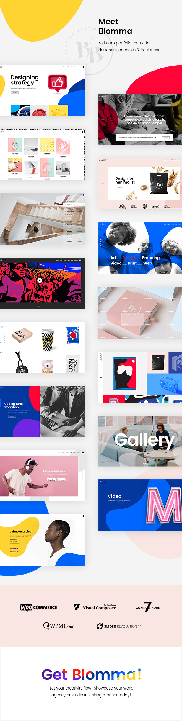 Blomma - Theme of the portfolio of the creative agency - 1
