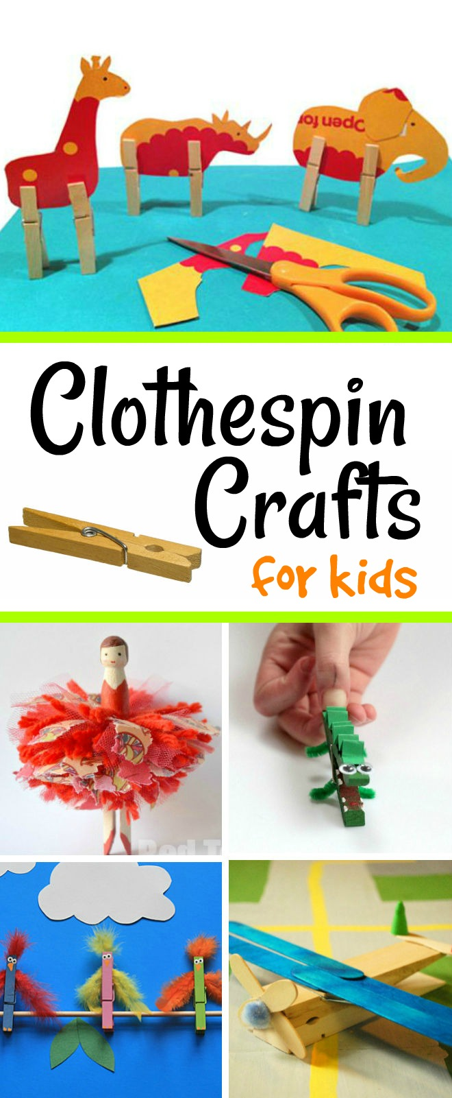 Clothespin Crafts for Kids - 16 adorable crafts kids will love making and playing with after!