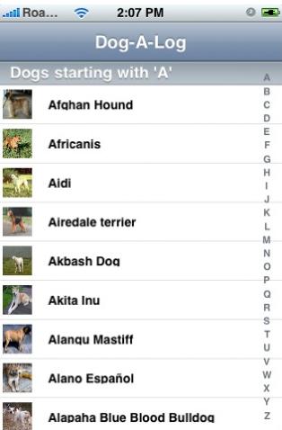 Blomsterhundar tipsar om iPhone-appar - Dog-a-log