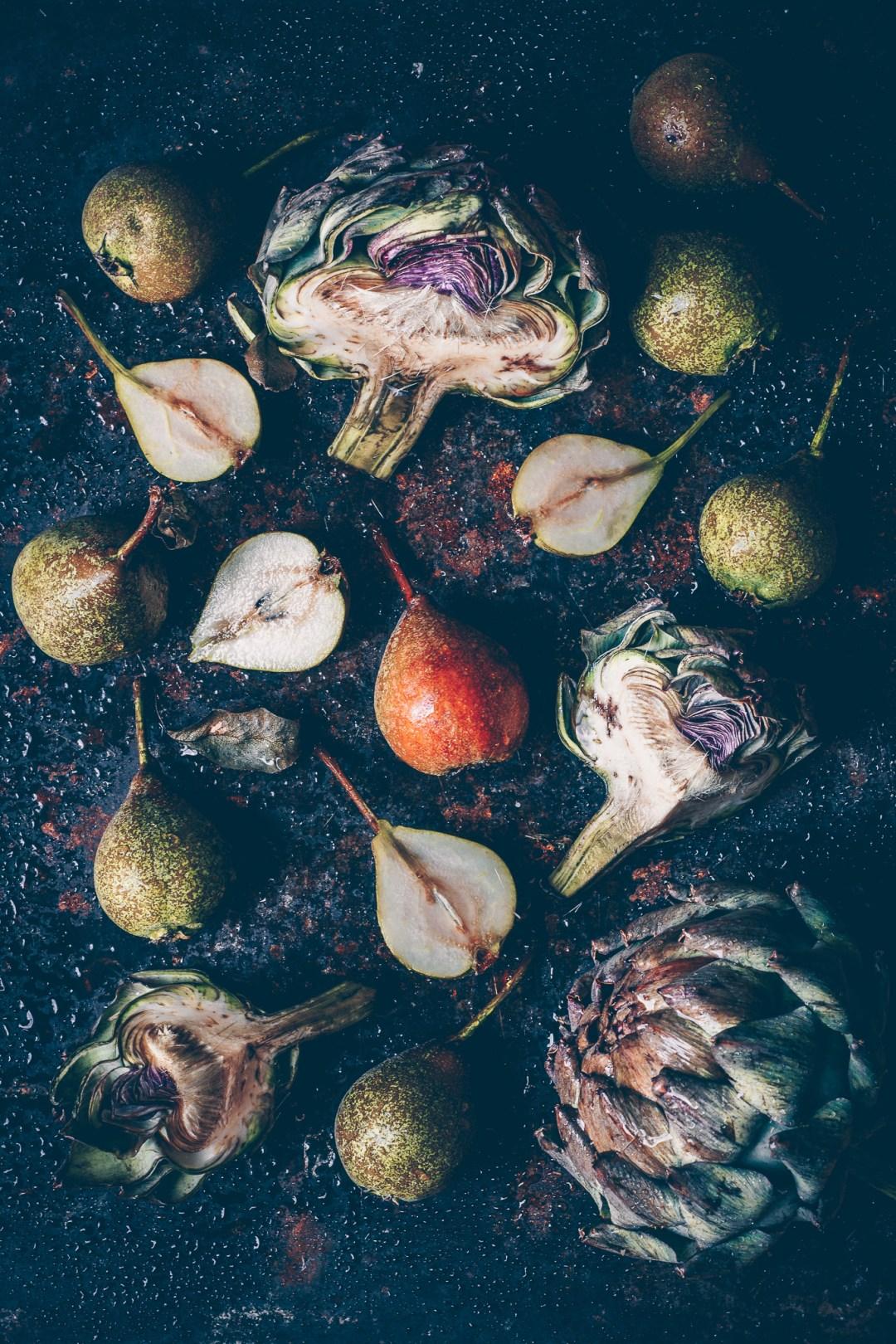 kronärtskocka och gråpäron