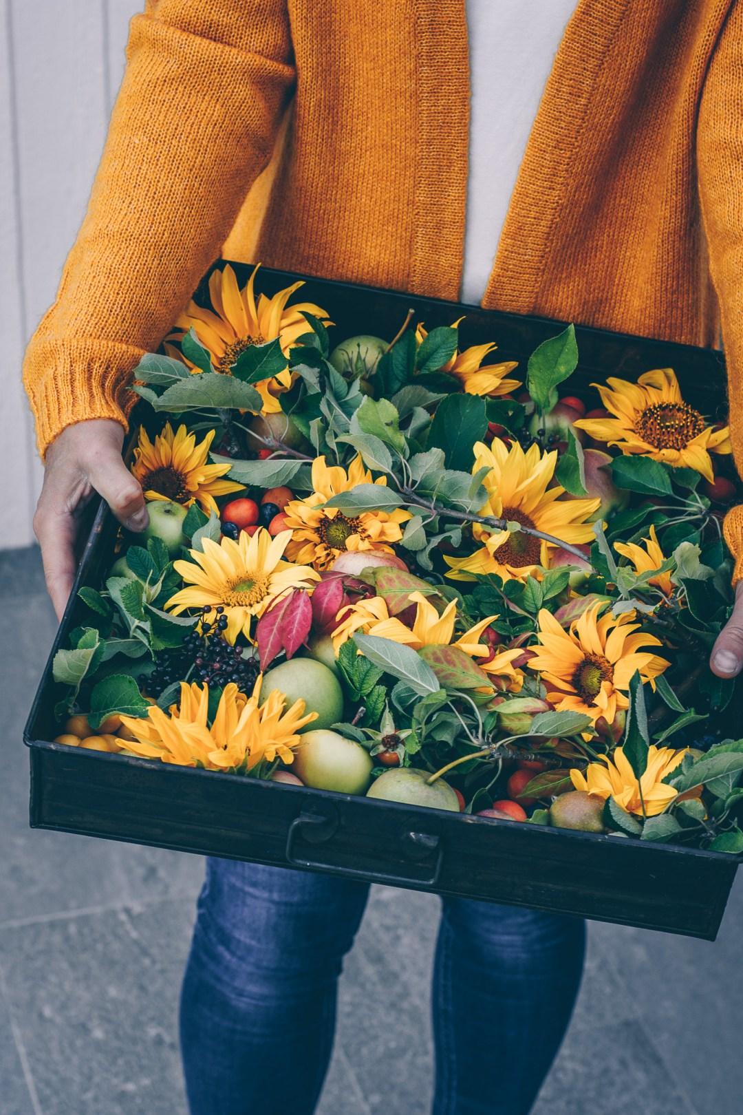 höstens stilleben låda