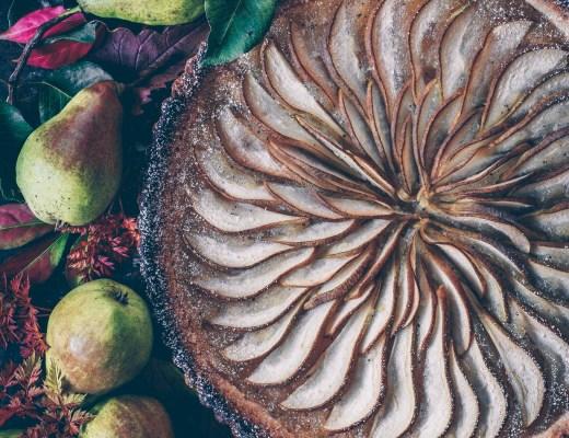 lyxig päronpaj med kompott glutenfri