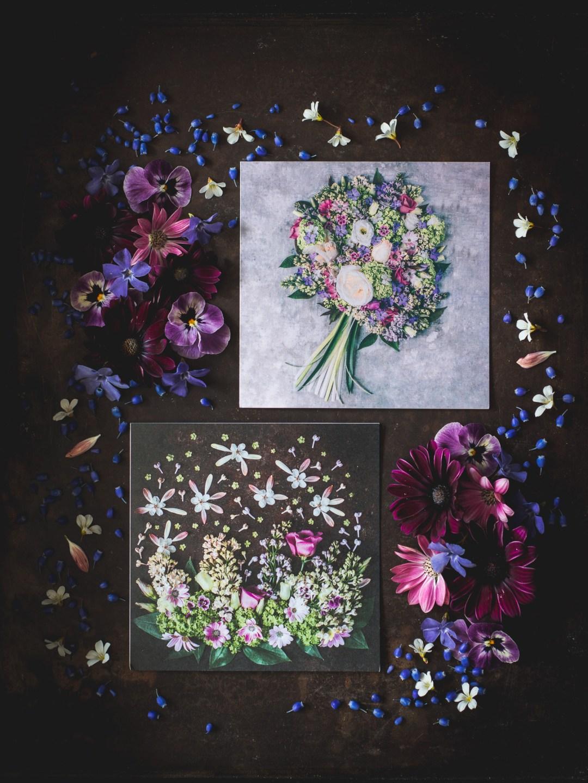 blomstermotiv gåvokort mors dag