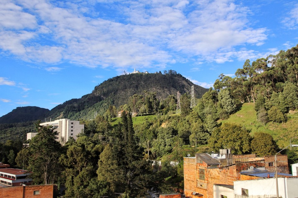 View to the Monserrate mountain