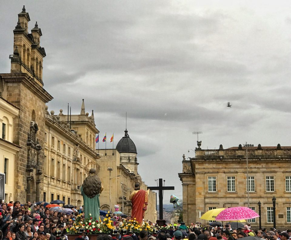 Easter Sunday in Bogota, Colombia