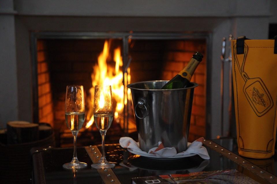 Fireplace at the Executive Suite of FS Casa Medina