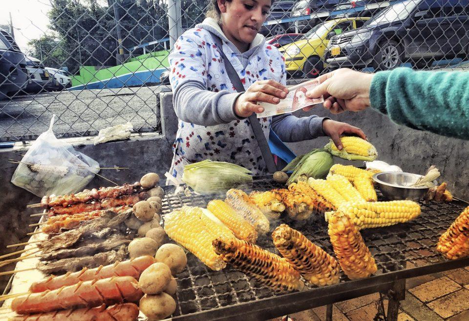 Street food in Bogota