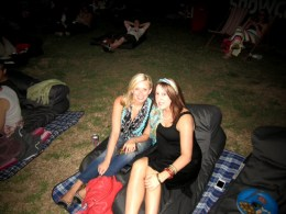 Marysia and I at the Opel Moonlight Cinema in New Farm Park.