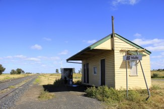 Possibly Queensland's smallest train station … and the loo with a view (because the door had fallen off).