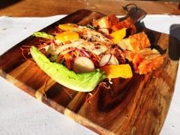 Pork Belly with orange salad.