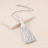 Adorne Oversize Cone Cap Tassel Necklace