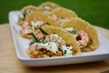 The Jetty's Straddy king prawn taco, avocado, sweet corn, tomato and coriander salsa.