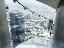Slip sliding away ... high above Los Angeles.