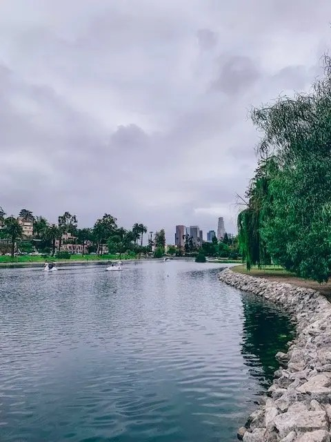 memorial day in la - echo park lake