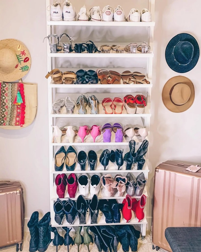 shoe rack - closet