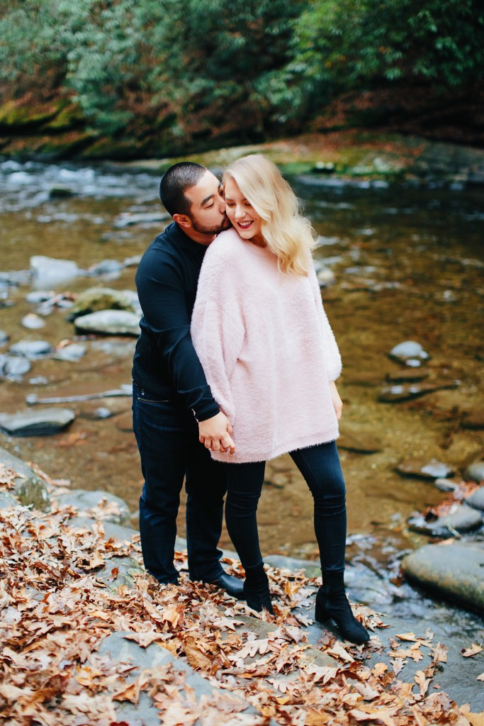 engagement shoot in the great smokies