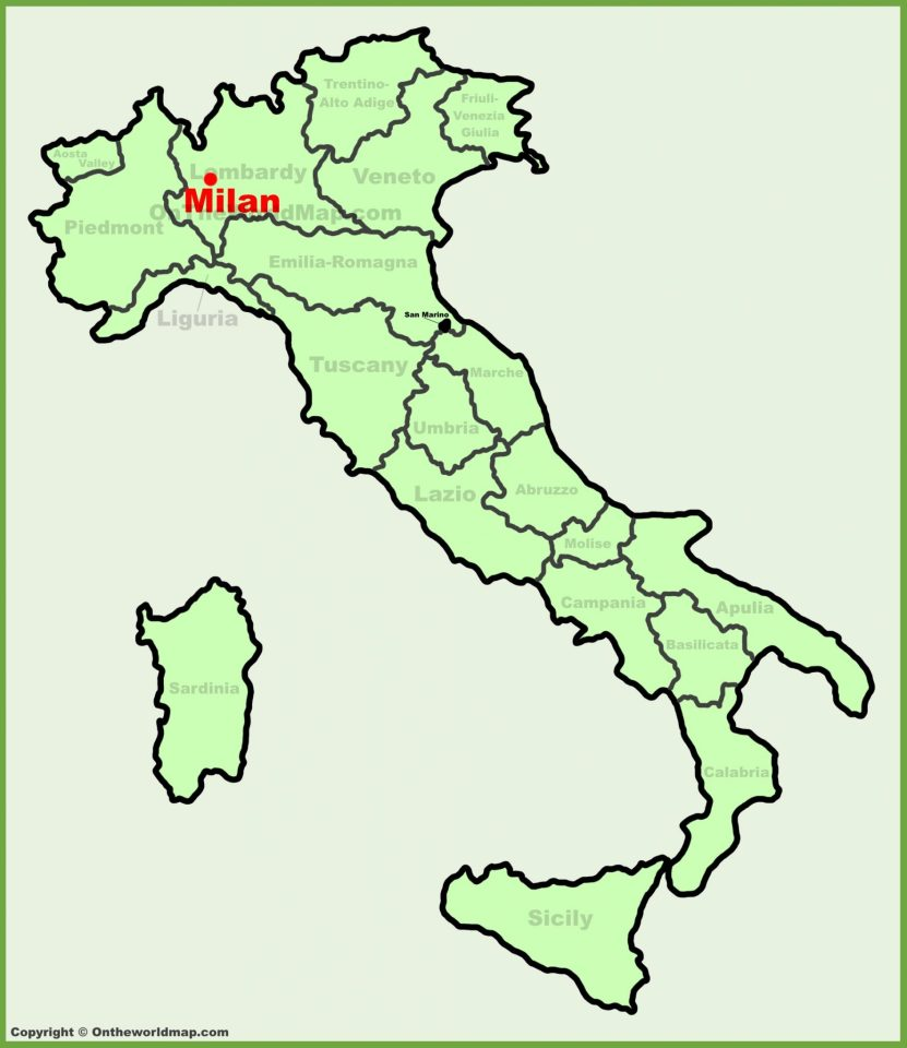 Italy Map Milan.Milan Location On The Italy Map Blonde Around The World