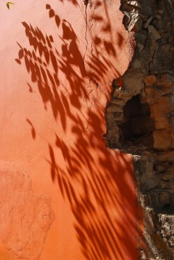 Shadows on the wall in Fiskardo, Greece