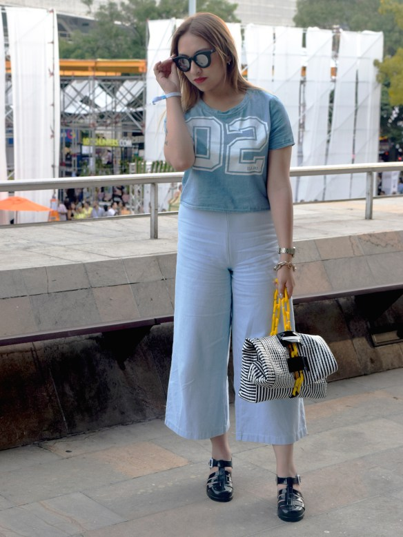 Denim tendencias look danielastyling street style colombiamoda 1