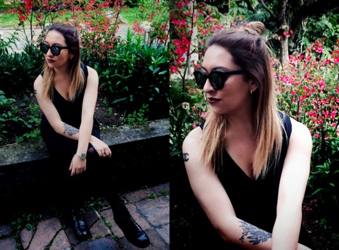 Danielastyling outfit post outfit bogota fashion total black - colombian blogger 10
