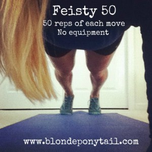 Feisty 50 at Home Workout