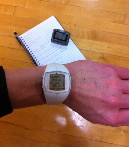 Polar FT 40 HRM_Gymboss timer