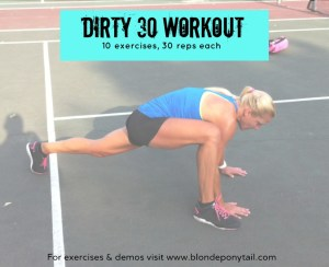 Dirty 30 Workout – No Equipment