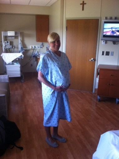 Being induced hospital gown