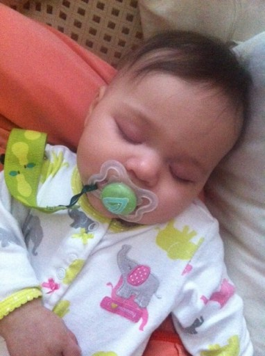 Sleeping Jada with Paci
