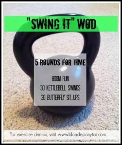 """Swing It"" WOD"